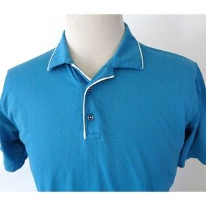 Robert Graham Medium Classic Fit Polo Shirt Blue